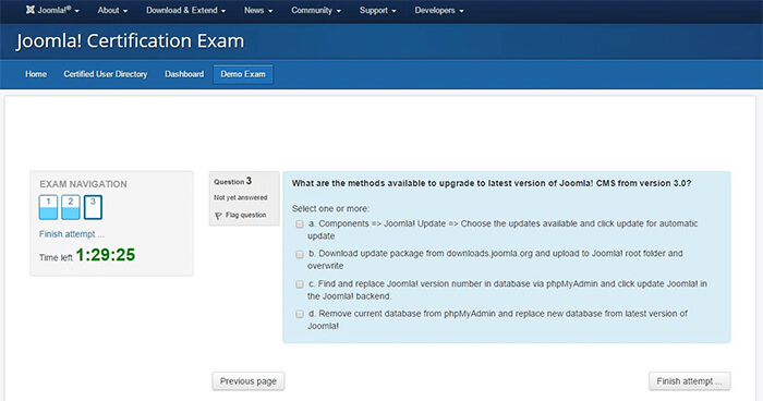 joomla certification exam 1