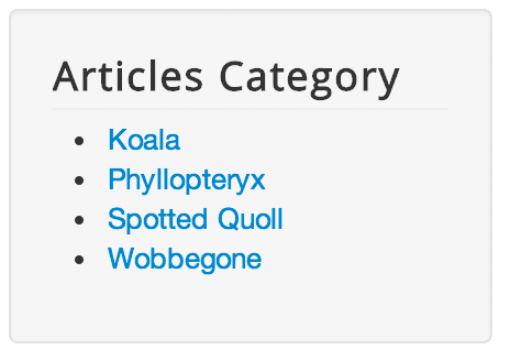 Joomla module articles category