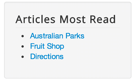 articles most read