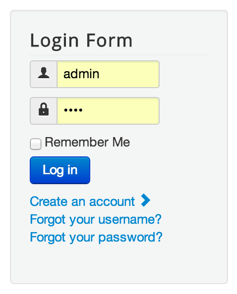 Login form for Joomla!