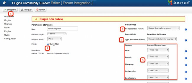 Plugin forum intégration - Community Builder