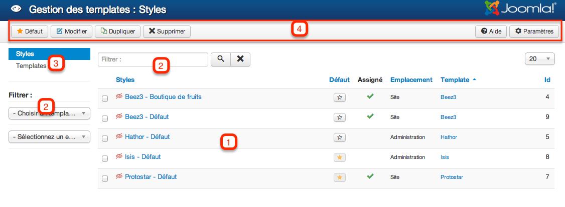 joomla backend templates - cinnk apprendre g rer les templates avec joomla 3