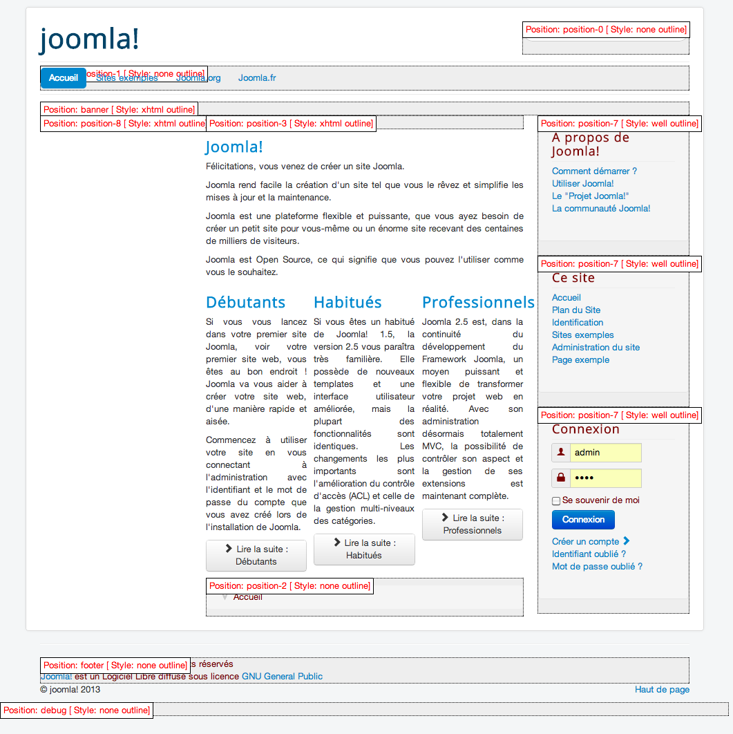 Cinnk apprendre g rer les templates avec joomla 3 for Protostar joomla template download