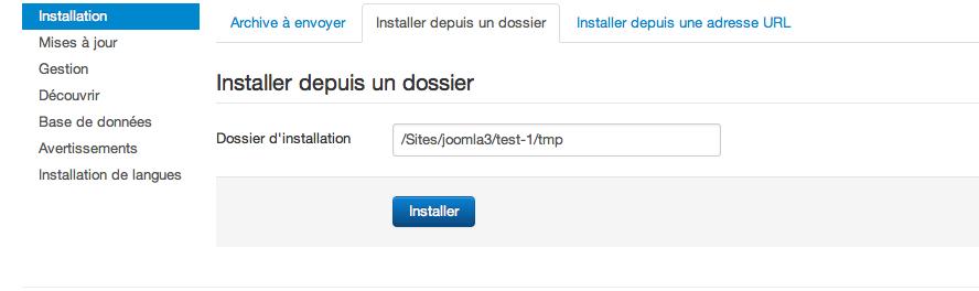 Comment installer une extension joomla - Comment installer un groupe filtrant ...