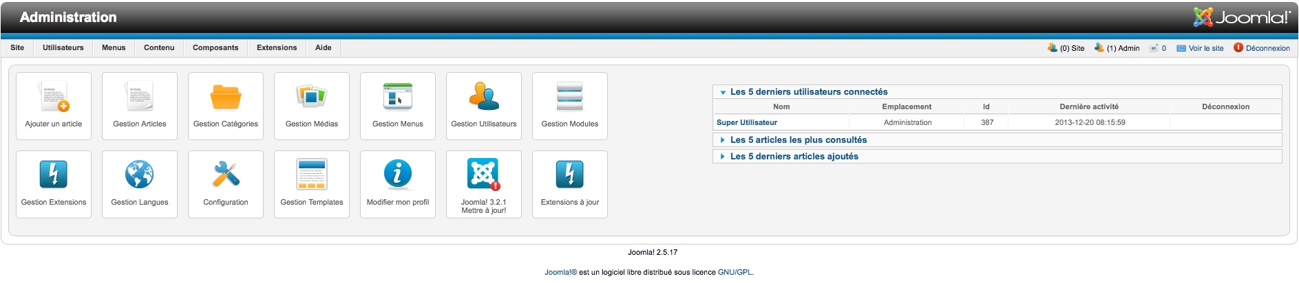 installer joomla 3.2 dans les paramètres régionaux