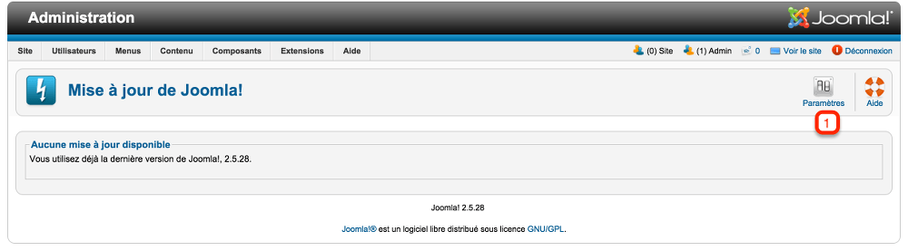 Joomla! en version 2.5.28