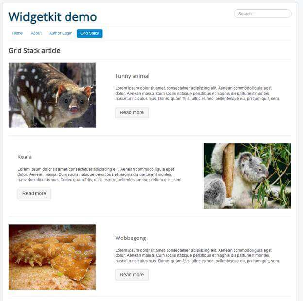 widgetkit gridstack demo